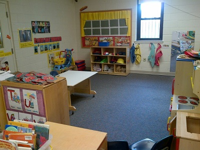 The building has five classrooms, each corresponding to a different age range.  The teachers do a wonderful job making sure each is set-up and ready for play each day when the children arrive.