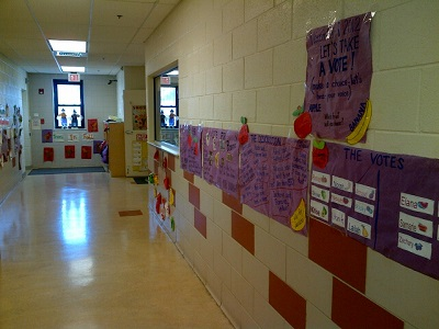 Artwork and projects decorate the halls.