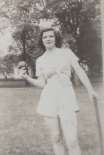 June as a teenager at Kelso Home.