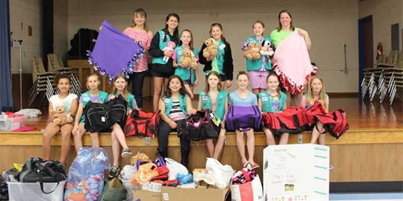 girl scouts group shot